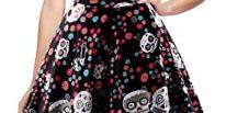 comprar online el mejor oten Vestido de Fiesta de Rockabilly del Estampado del cráneo