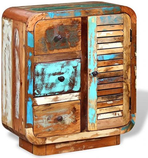 Comprar online Cómoda Vintage reciclada. Madera Maciza reciclada. Hecha a mano