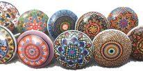 comprar online Tiradores Vintage de ceramica con diseños de Flores para puertas, armarios, cajones y Cómodas