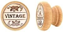 comprar Tiradores redondes Vintage de madera muy estables para Cómodas y muebles con cajones